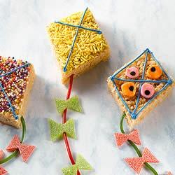 Letter K - Kite Rice Krispy cookies