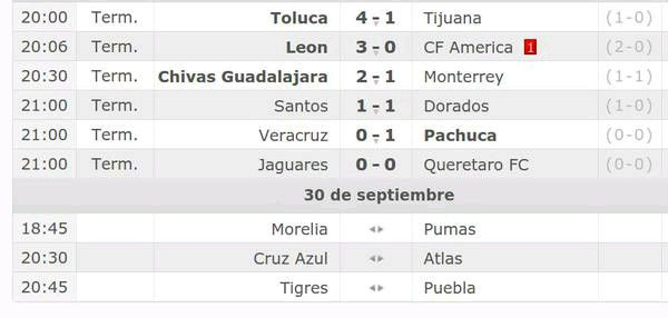 Jornada doble de #LigaMX, resultados de ayer y los partidos de hoy:
