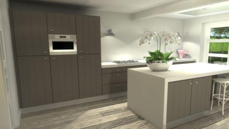 kookeiland met zitgedeelte op 1 hoogte - keuken | pinterest, Deco ideeën