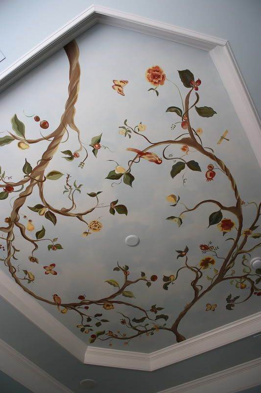 25 best ideas about ceiling murals on pinterest starry for Ceiling mural painting techniques