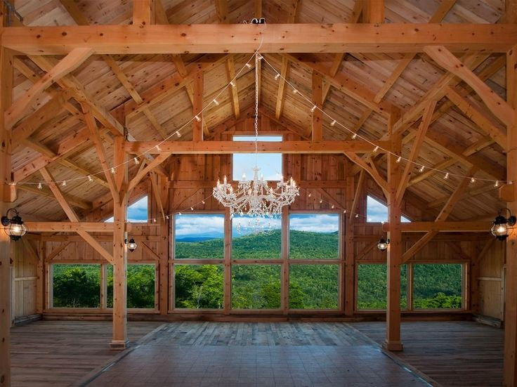 "An hour drive north of Portland, the Granite Ridge Estate sits atop a 1,000-foot high mountain. Paired with a 3,500 square foot rustic wood barn with stunning panoramic mountain views, this venue is a forested wonderland and rightfully found its way on to Brides ""10 Hottest Venues for 2016."" If the barn or on-site New England church aren't your style, plan a ceremony al fresco in the nearby wooded outdoor wedding site."