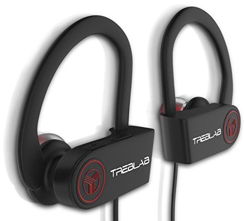 From 23.99:TREBLAB XR100 Bluetooth Headphones Best Wireless Earbuds For Sports Running Gym Workout Athletic Exercise. IPX4 Waterproof Sweatproof Secure-Fit Headset. Noise Cancelling Earphones w/ Mic (Black)