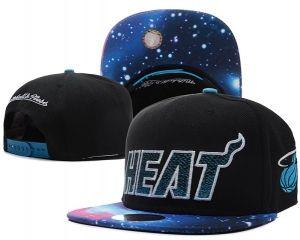 Casquette NBA Miami Heat Snapback Noir Bleu Galaxy : Casquette Pas Cher