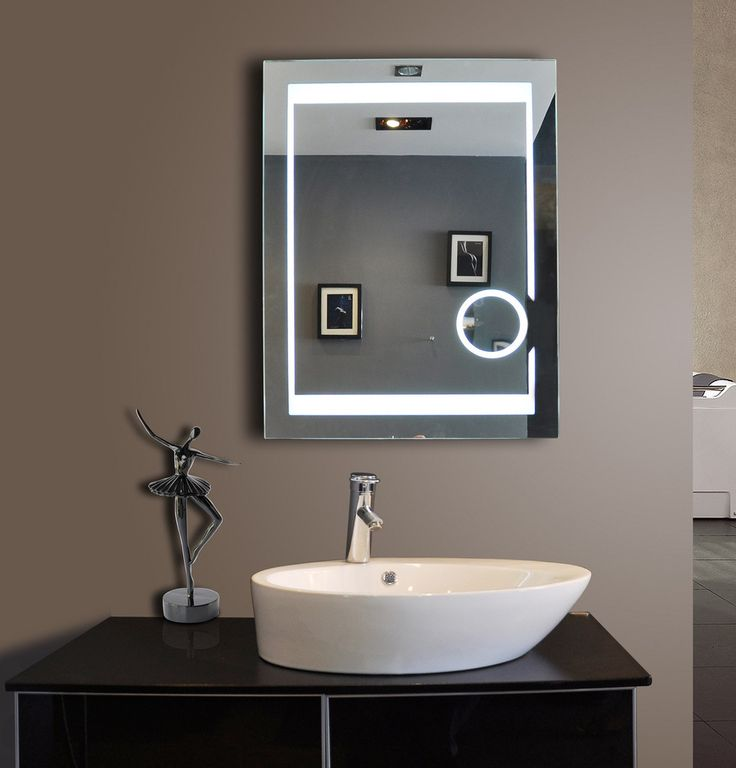 Lighted Bathroom Mirror with sensor switch and demister pad. Size: h:32 x w:24 x d:2 inches This product features Sensor Switch ( l