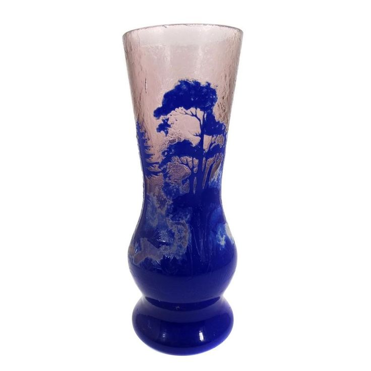 Jugendstil Überfangvase mit Tiefätzung, sign. Goldberg, Haida um 1900 in Antiquitäten & Kunst, Glas & Kristall, Sammlerglas | eBay!