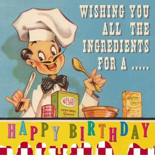 Best 25 Happy birthday chef ideas – Glee Birthday Card