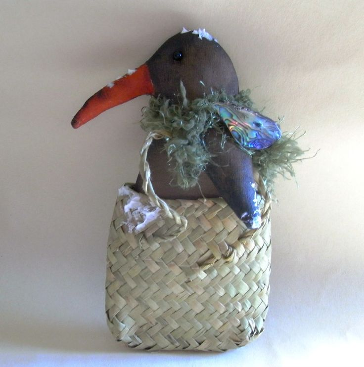 Kiwi in a kit bag from New Zealand by The Christmas Den on Etsy