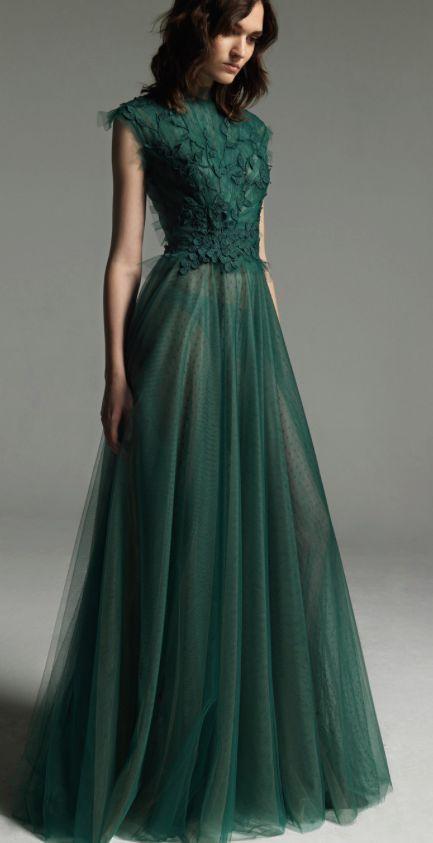 Beautiful green prom dresses