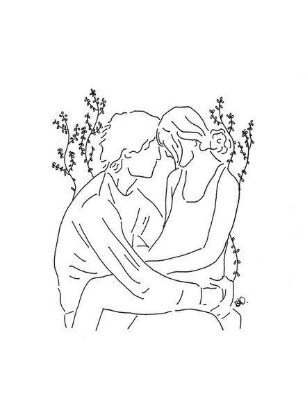 25  melhores ideias de casal apaixonado desenho no