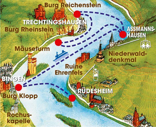 Ein Schiff & zwei Burgen › Bingen-Rüdesheimer Fahrgastschiffahrt