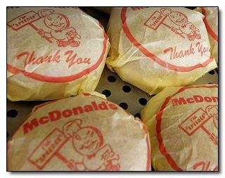 McDonald's hamburgers came wrapped in paper, and they tasted wonderful!