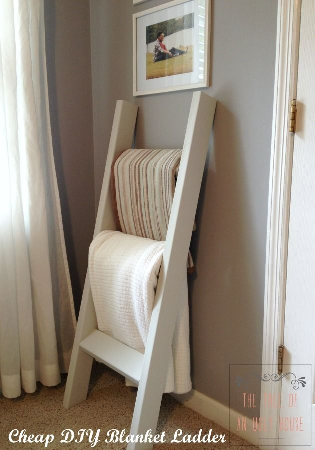 Cheap Diy Blanket Ladder August 13 2014 Cheap Diy Blanket Ladder Living Room Pinterest