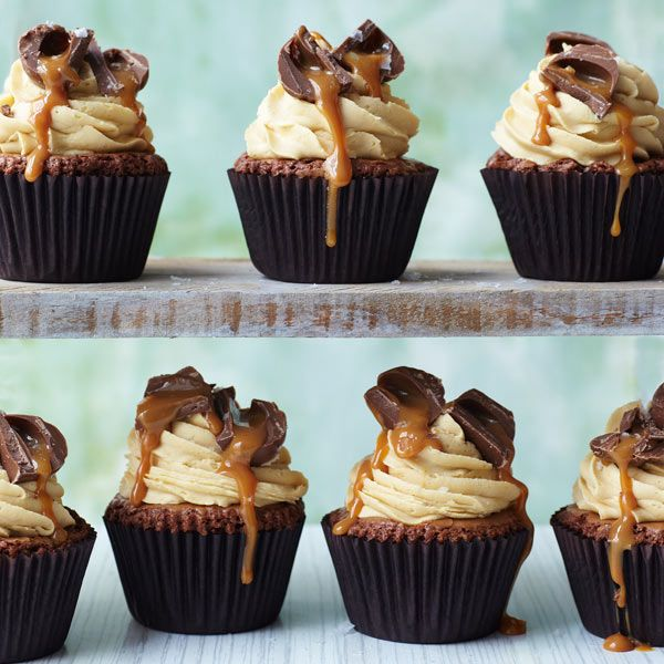Salted caramel brownie cupcakes - Sainsbury's Magazine