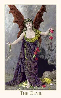 Victorian Romantic Tarot The Victorian Romantic Tarot is based on original engravings from 19th century artists, perfectly collaged to create fully-illustrated, Rider-Waite-based Tarot scenes. It's available for order in gold and standard editions.