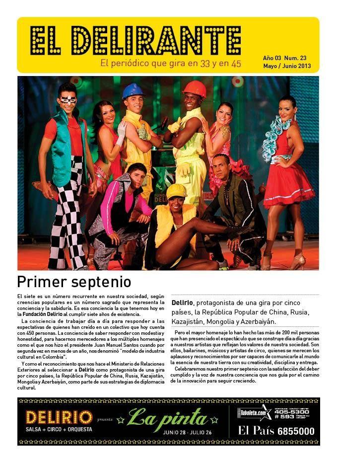 Portada de El Delirante, el periódico de la Fundación Delirio, de mayo-junio de 2013