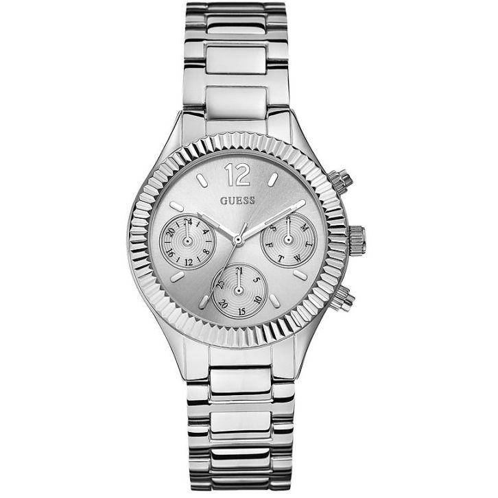 Ceas de dama Guess Riviera W0323L1 este un produs nou si original. Ceas de dama Guess Riviera W0323L1 este livrat in cutie proprie, impreuna cu manualul de utilizare, factura si certificat de garantie.