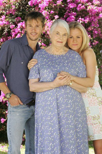 Still of Anna Paquin, Ryan Kwanten and Lois Smith in True Blood