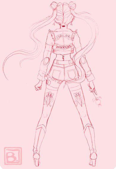 ooh I like the dagger tattoos   -Badass Sailor Moon-