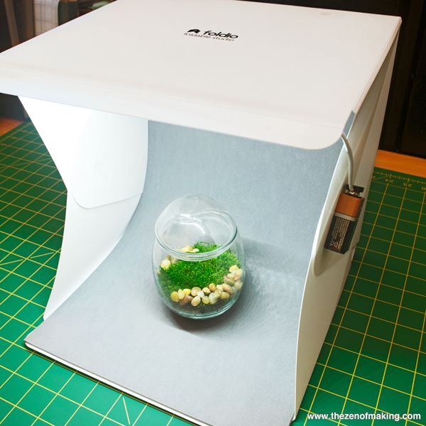 Foldio: A light box with built-in LEDs that sets up in seconds AND folds small enough to fit in a tote. My, but the world is filled with miraculous things!