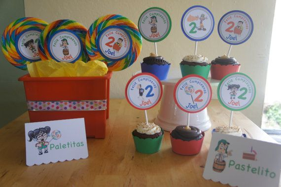 El Chavo del Ocho cupcake toppers by LollipopParty on Etsy, $8.50