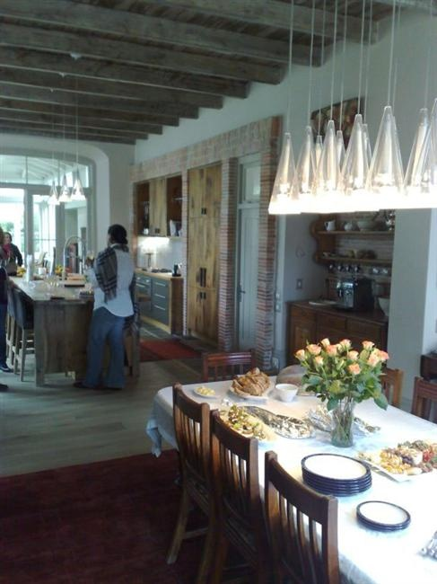 The Lanes ceramics klompies really finish this open plan kitchen