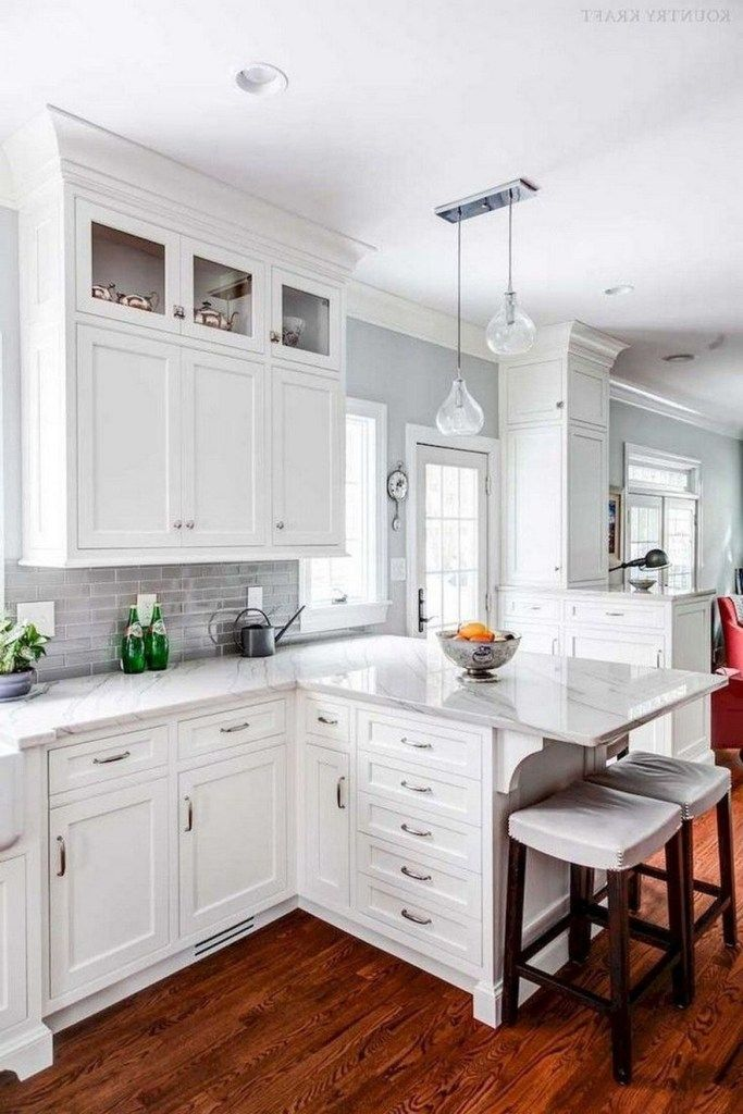 Best 76 The Hottest Kitchen Trends 44 White Shaker Kitchen 400 x 300