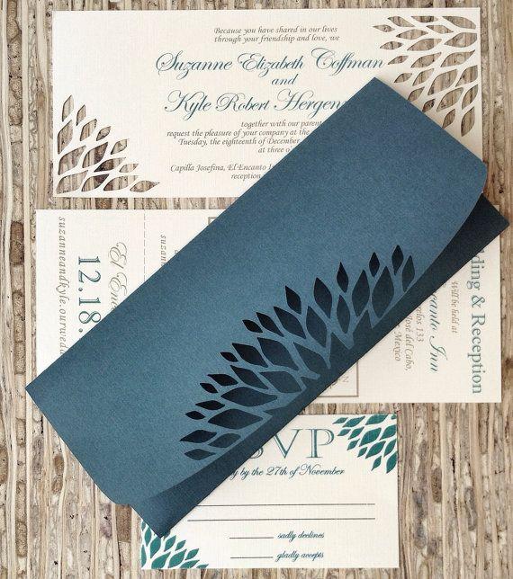 Handmade Wedding Invitation - DIE Cut Ivory - Simple Elegance Wedding Invitations- SAMPLE - on Etsy, $3.37 AUD