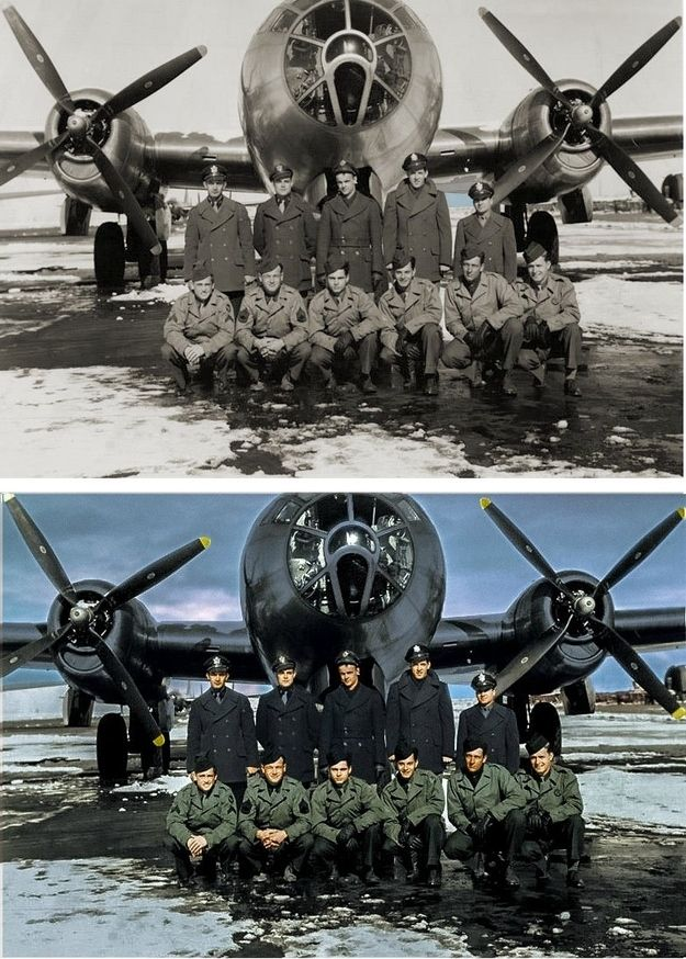 Colorized WWII Photo