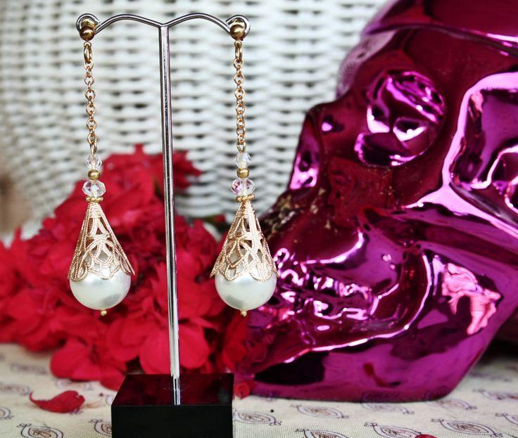Spanish Bridal Earrings by BleakDesigns on Etsy
