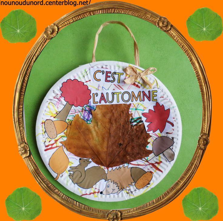 Les 53 meilleures images propos de assiette en carton for Decoration d automne