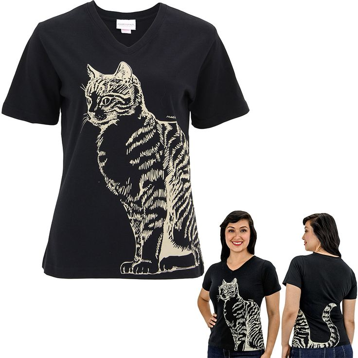 Cat Tail V-Neck Tee at The Animal Rescue Site