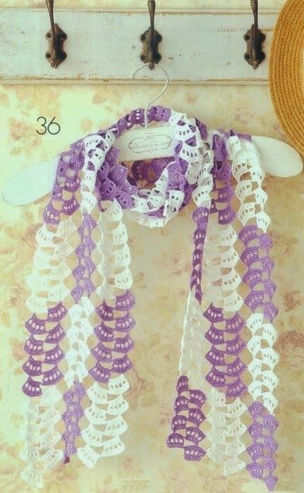 Bufanda Dulce Primavera Patron - Patrones Crochet