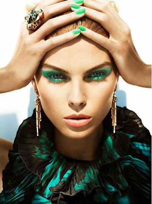 Резултат с изображение за green makeup