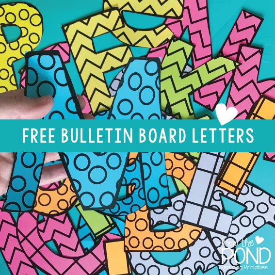 Free printable bulletin board letters for your classroom displays.