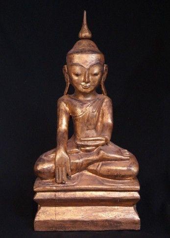 Antique Burmese Buddha statue from Burma