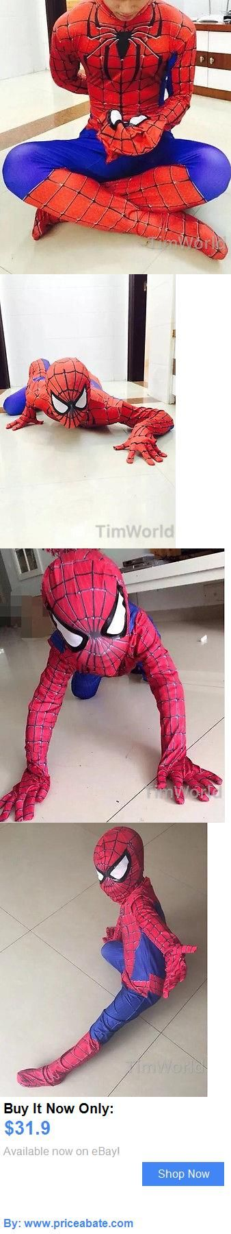 Men Costumes: Adult Kids All Size Marvel Deluxe Spiderman Outfit Jumpsuit Fancy Dress Costume BUY IT NOW ONLY: $31.9 #priceabateMenCostumes OR #priceabate
