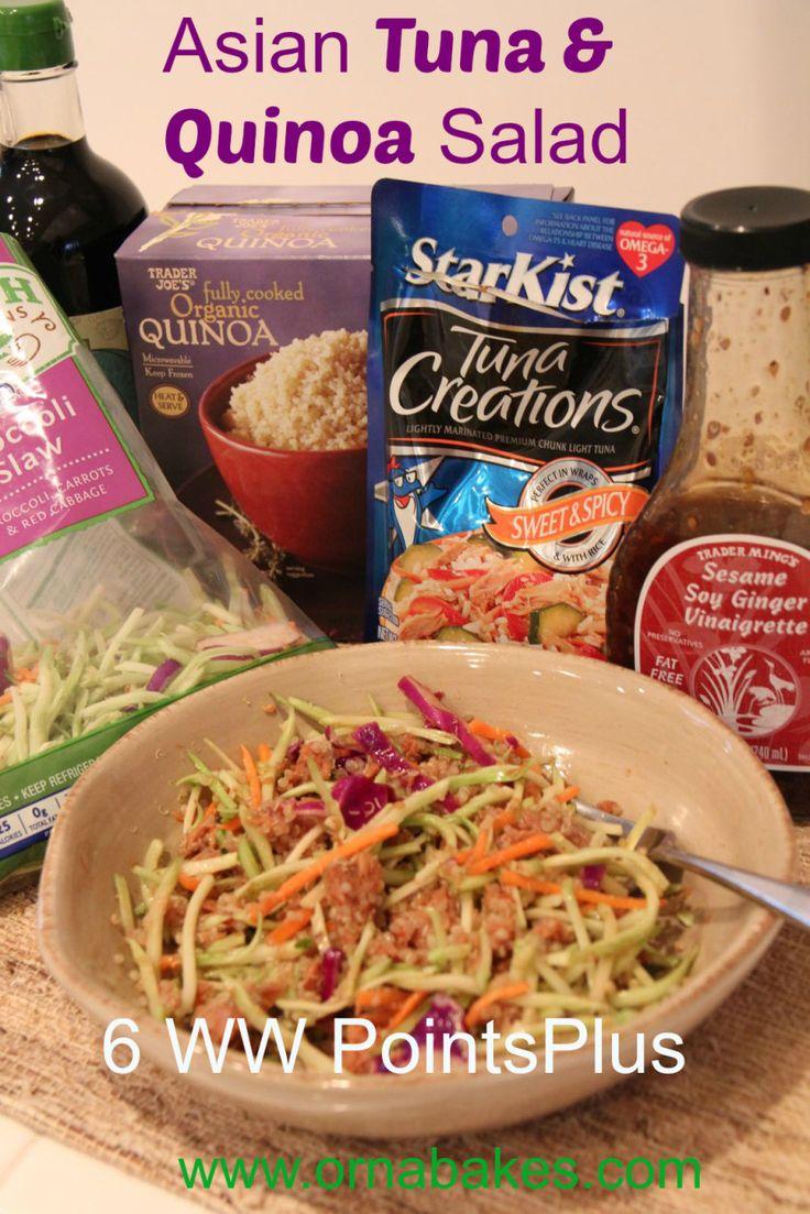 Weight Watchers Simple Start Asian Tuna & Quinoa Salad, 6 PointsPlus - from ornabakes.com #weightwatchers #startsimple