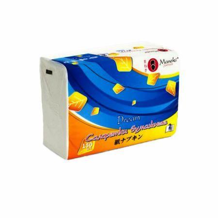 Бумажные салфетки Maneki Dream белые 2 слоя (150 шт)  — 99р. --- Бумажные салфетки Бумажные салфетки Maneki Dream белые 2 слоя (150 шт)