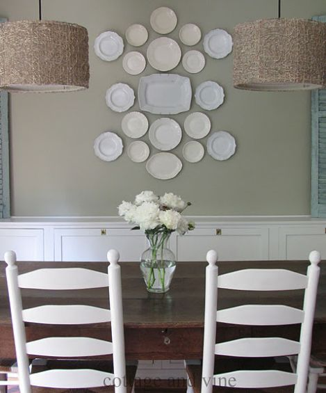 Office dining idea wall plate arrangements how to for Decor plates