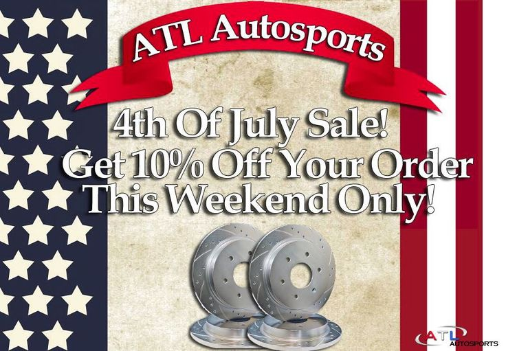 ‪#‎Happy4thofJuly‬! THIS WEEKEND ONLY! Get 10% off your rotors and brake pads when you enter promo code FLAGDAY at checkout! ‪#‎brakes‬ ‪#‎cars‬ ‪#‎rotors‬ ‪#‎coolcars‬ ‪#‎sales‬ ‪#‎sale‬ ‪#‎discounts‬ ‪#‎sylmar‬ ‪#‎losangeles‬ ‪#‎deals‬ ‪#‎localdeals‬ ‪#‎honda‬ ‪#‎toyota‬ ‪#‎hyundai‬ ‪#‎ford‬ ‪#‎dodge‬ ‪#‎flagday‬ ‪#‎july‬ ‪#‎independenceday‬ ‪#‎4thofJuly‬ ‪#‎USA‬ ‪#‎US‬ ‪#‎fireworks‬ ‪#‎america‬ ‪#‎celebration‬ ‪#‎party‬ ‪#‎bbq‬ ‪#‎atlautosports‬ ‪#‎automotive‬