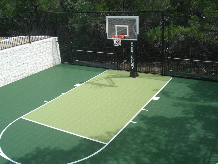 12 best sports court images on pinterest backyard ideas for Backyard sport court ideas