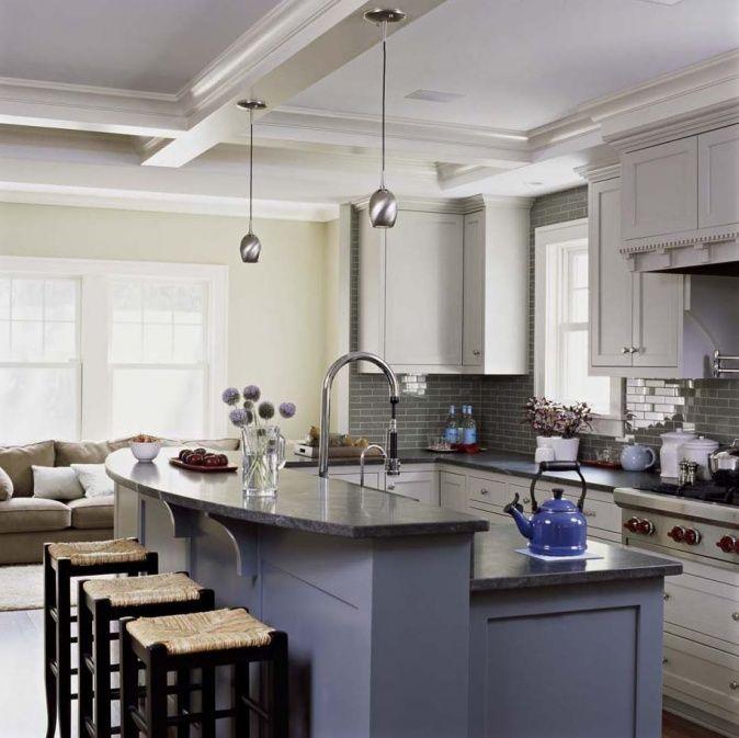kleine wohnkche blau abs fr zu hause blue - Moderne Wohnkche