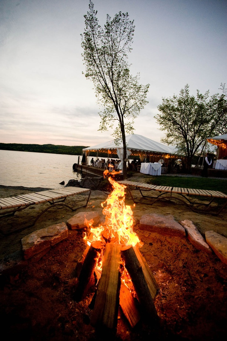 Keep the party going? How about a bonfire with all your friends on Lake Champlain at Basin Harbor Club?