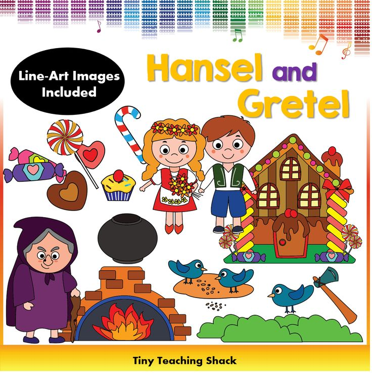 Hansel and Gretel fairytale clipart