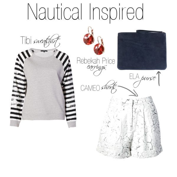 """""""Nautical Inspired Outfit Idea"""" by shopeluxe on Polyvore"""