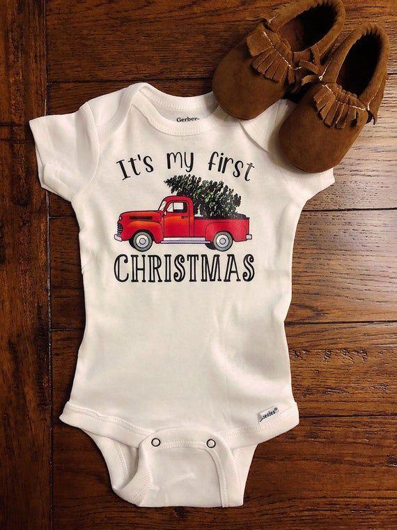 DIY Iron On Transfer First Christmas iron on transfer for onesie iron-on transfer baby first Christmas baby girl first Christmas outfit