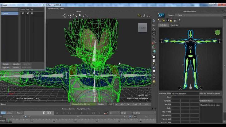 Tutorial Animar personaje utilizando BVH en Motion Builder
