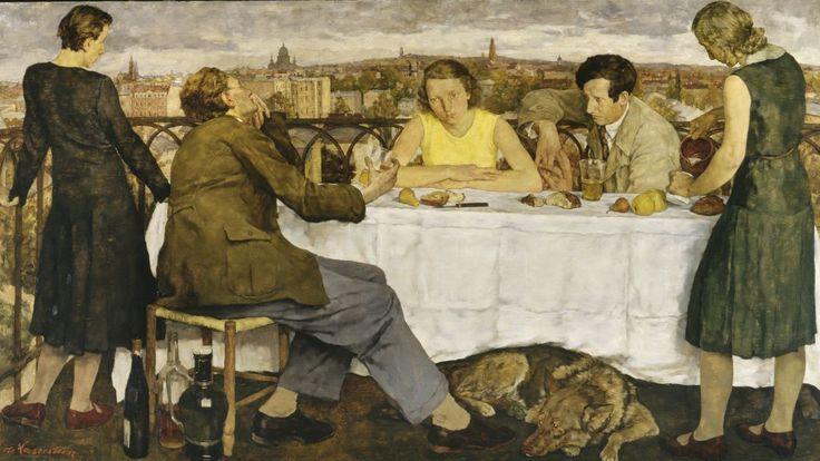 """1930, Lotte Laserstein """"Abend uber Potsdam"""""""