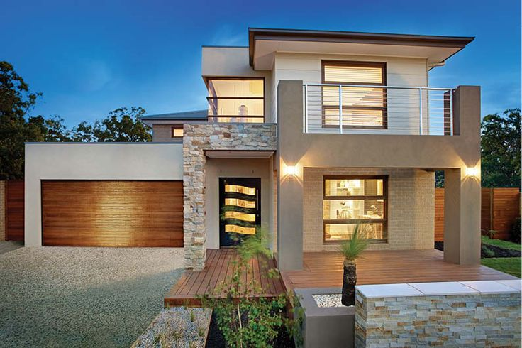 house with different color detached garage ideas - Double Story House Designs In South Africa 1