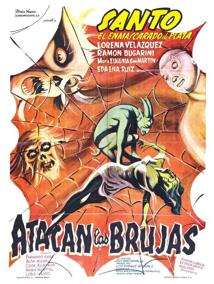 """Santo en Atacan las brujas (Santo in """"The Witches Attack"""", 1964) aka Santo en la casa de las brujas"""